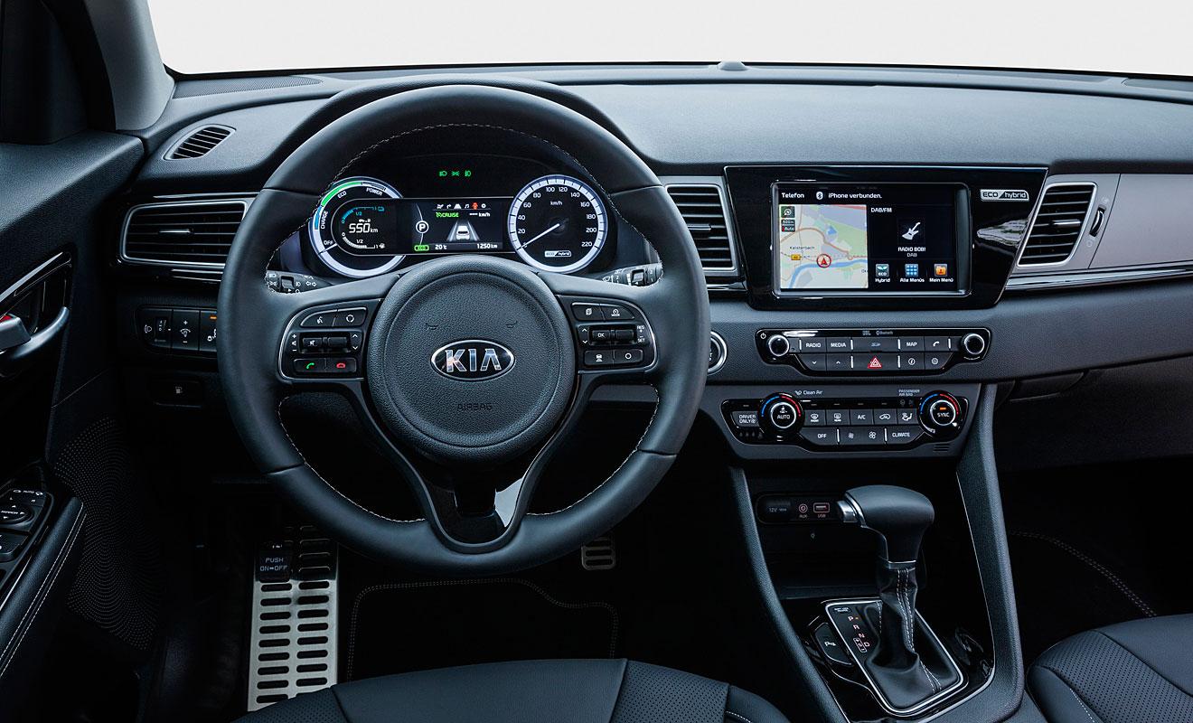 Das Cockpit des Niro. Foto: Kia