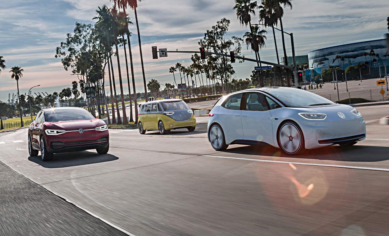 Das Elektro-Trio von VW. Foto: VW